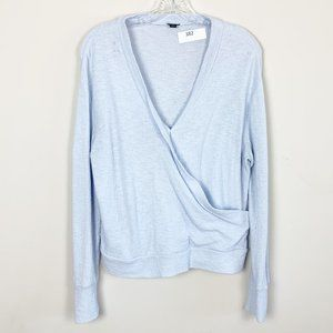 J.Crew | wrap front pullover sweater blue small
